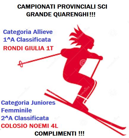 CAMPIONATI PROVINCIALI SCI - Alunni Premiati